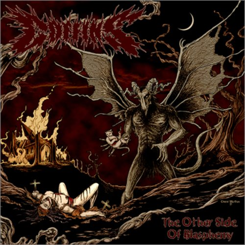Image result for coffins the other side of blasphemy vinyl art