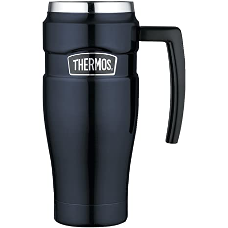 Amazoncom Thermos Stainless King 16 Ounce Travel Mug With Handle