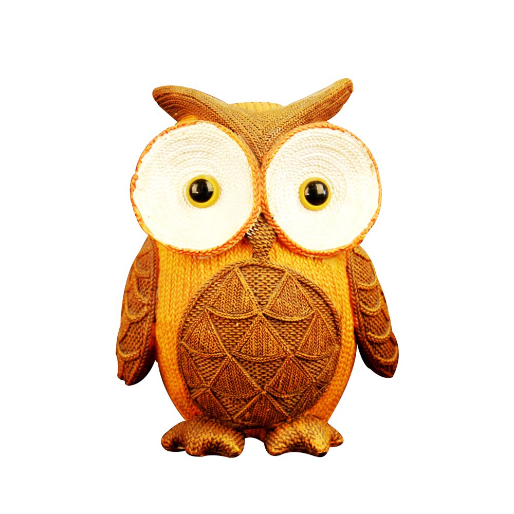 Owl Missley Easter Easter Easter 2PCS Resin Autumn Yarn Effect Owl Two Hands Embrace Stance Decoration Toy (Owl) ae3abb
