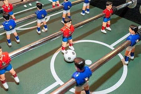 Devessport - Futbolín Silver con Jugadores de piernas Abiertas - Gran tamaño - Profesional - Barras de Metal - Mango de plástico - Retorno de Bolas - con Posavasos - Medidas: 139 x 73 x 87 Cm: Amazon.es: Juguetes y juegos