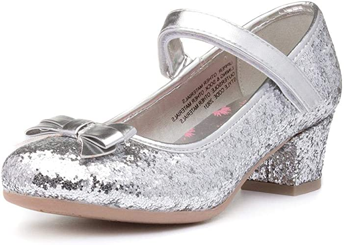 silver glitter court shoes uk