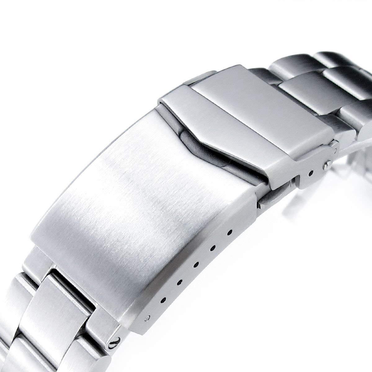 22mm Super 3D Oyster 316L SS Watch Bracelet for Tudor Black Bay, V-Clasp Brushed by MiLTAT (Image #2)
