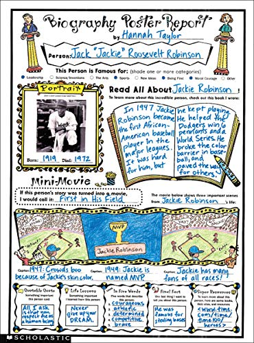 (Instant Personal Poster Sets: Biography Report: 30 Big Write-and-Read Learning Posters Ready for Kids to Personalize and Display With)