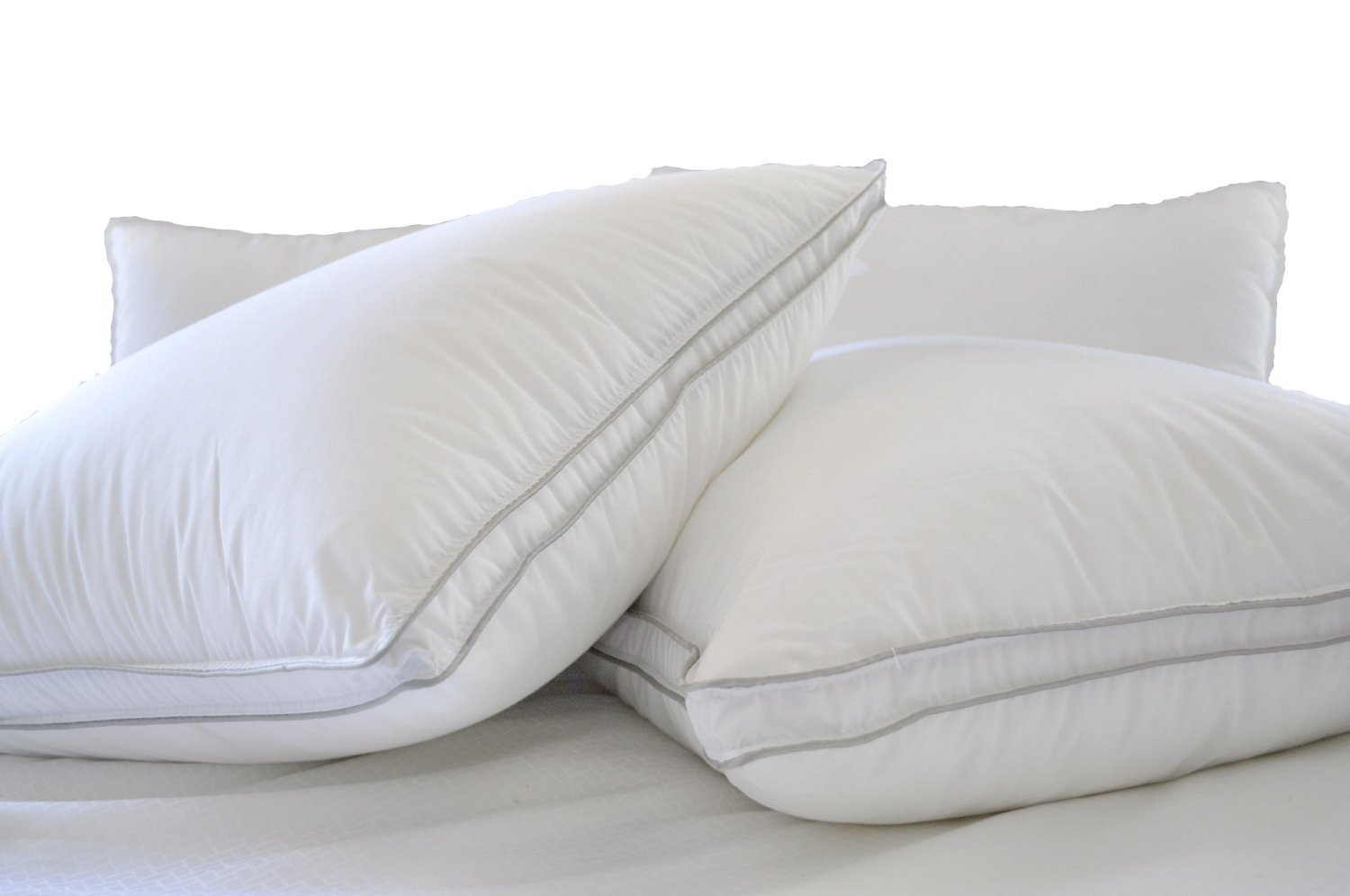Natural Comfort ALLERGY SHIELDS Luxurious Down Alternative Pillows, 34 oz fill, Set of 2
