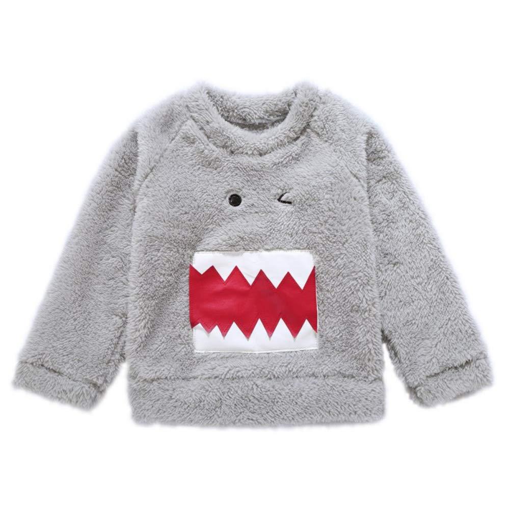 Urmagic Bébé Garçon Sweat-Shirt, Bébé Haut Pull-Over Manche Longue d'enfant pour Automne Hiver Shirt Top Velours Blouson