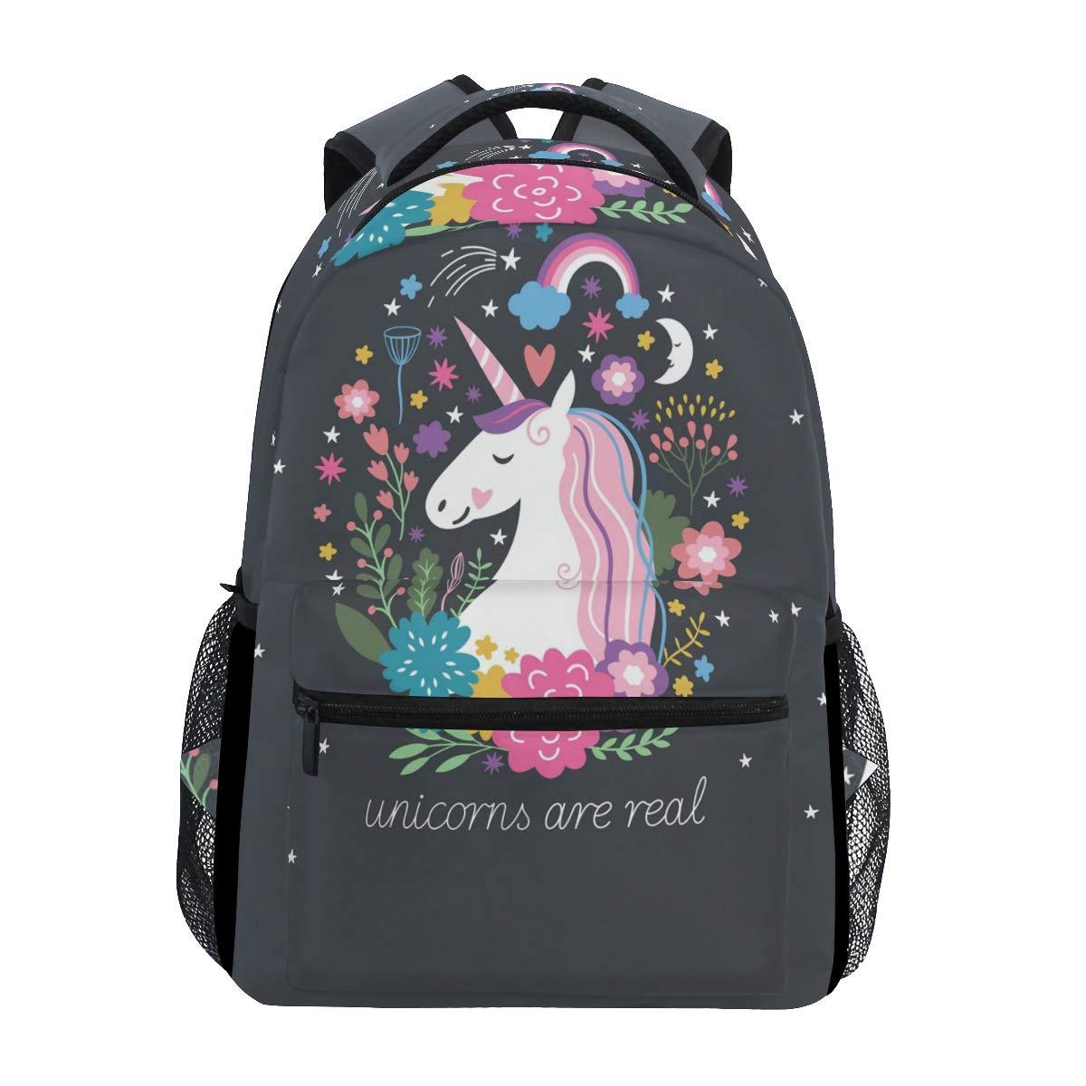 ZZKKO Animal Unicorn Boys Girls School Computer Backpacks Book Bag Travel Hiking Camping Daypack by ZZKKO