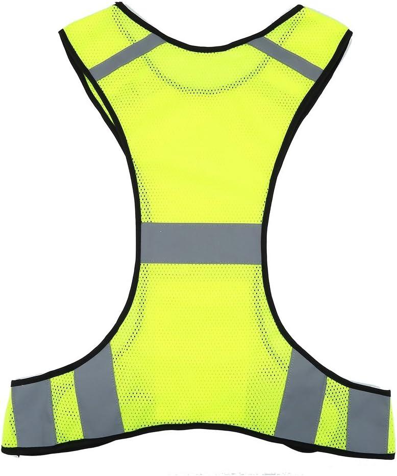Vestito di Sicurezza con Tasche per la Notte in Esecuzione Ciclismo Passeggiata Jogging VGEBY Alta visibilit/à Colore : Lime 200m