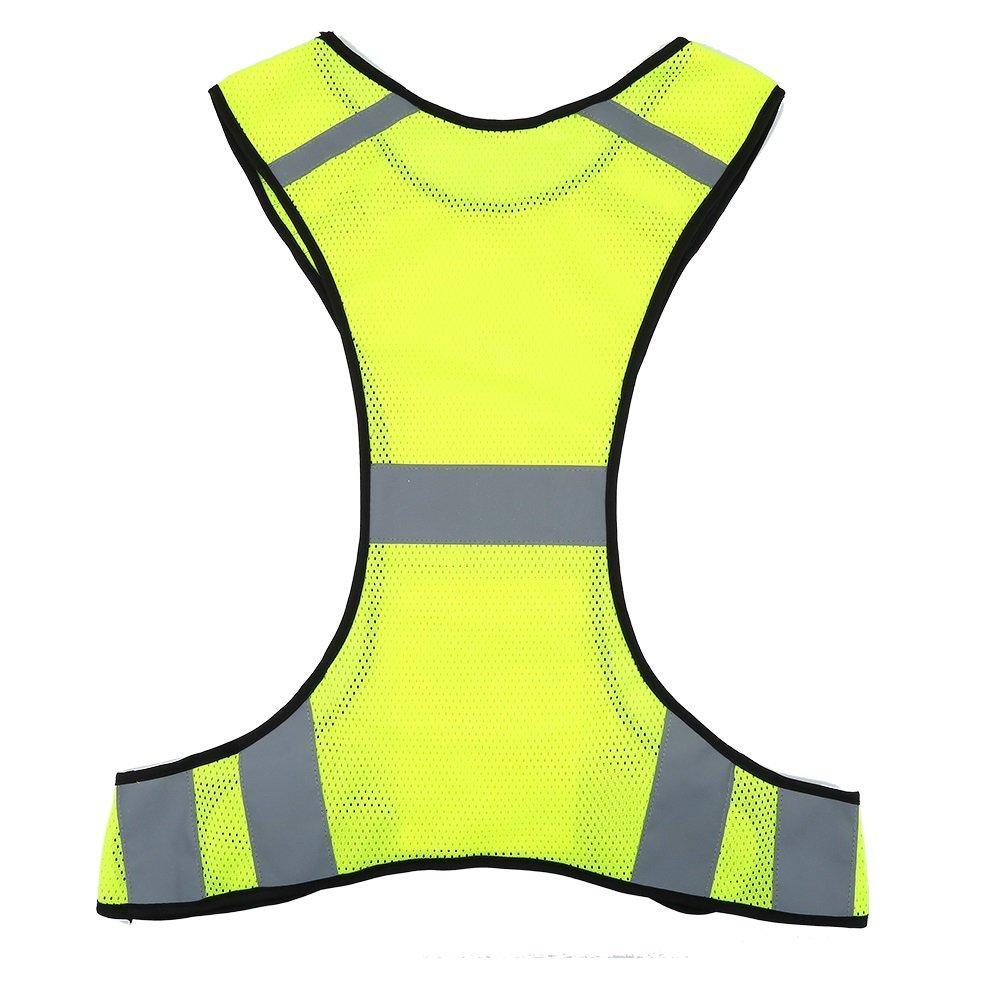 VGEBY Alta visibilit/à Colore : Lime Vestito di Sicurezza con Tasche per la Notte in Esecuzione Ciclismo Passeggiata Jogging 200m