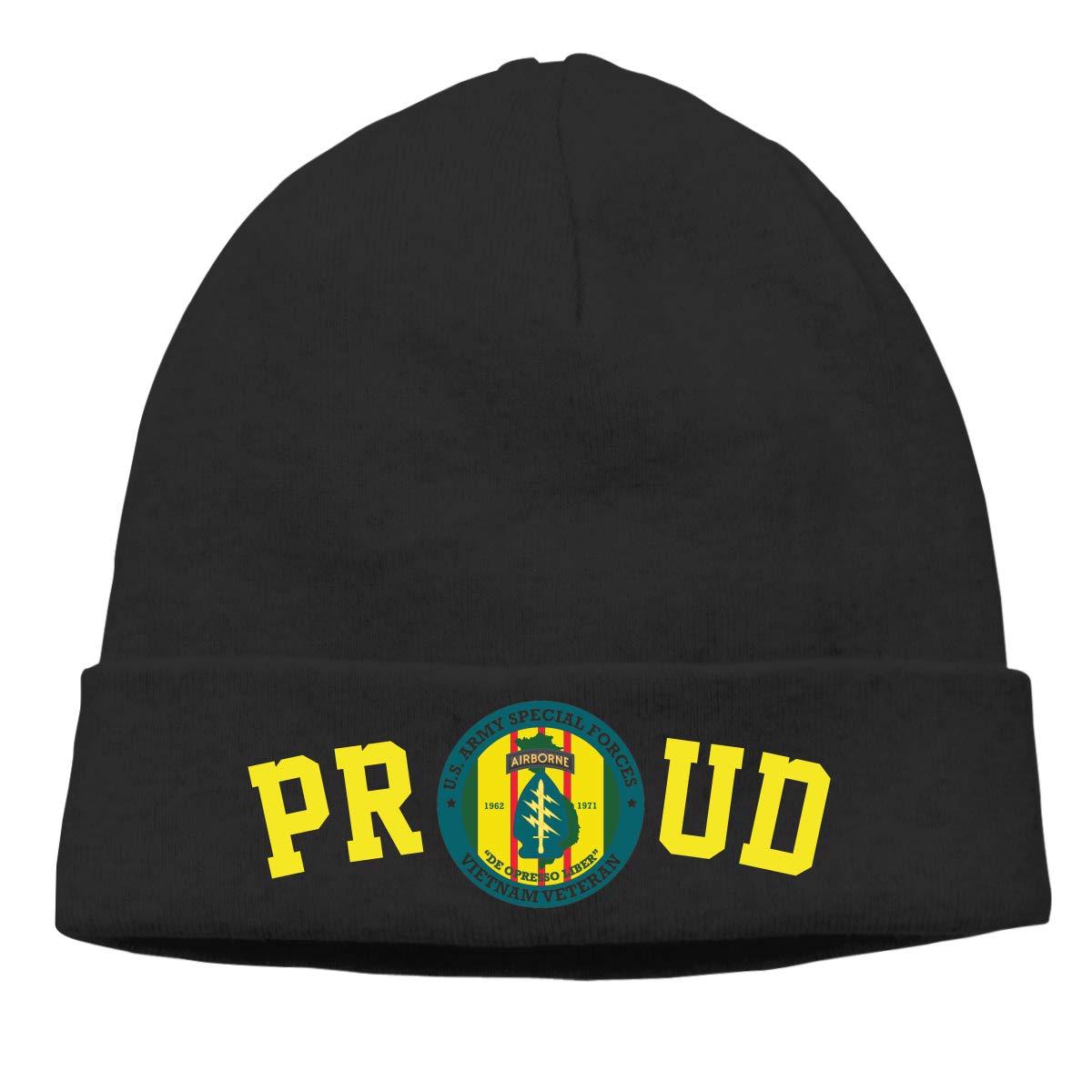 FORDSAN CP Proud Special Forces Vietnam Veteran Mens Beanie Cap Skull Cap Winter Warm Knitting Hats.
