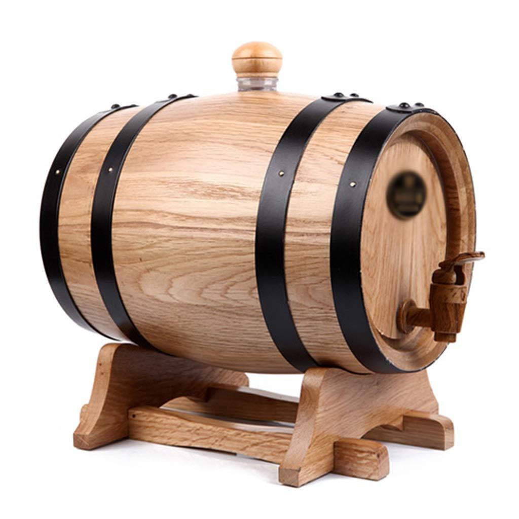 Botelleros - Barril Barril Barril Sellado pequeño Barril de Vino de Barril de Vino Rojo de fermentación de Vino Estable Barril Felice Home (Color : Color Madera, Tamaño : 28×20×27.5cm) eaf6a8