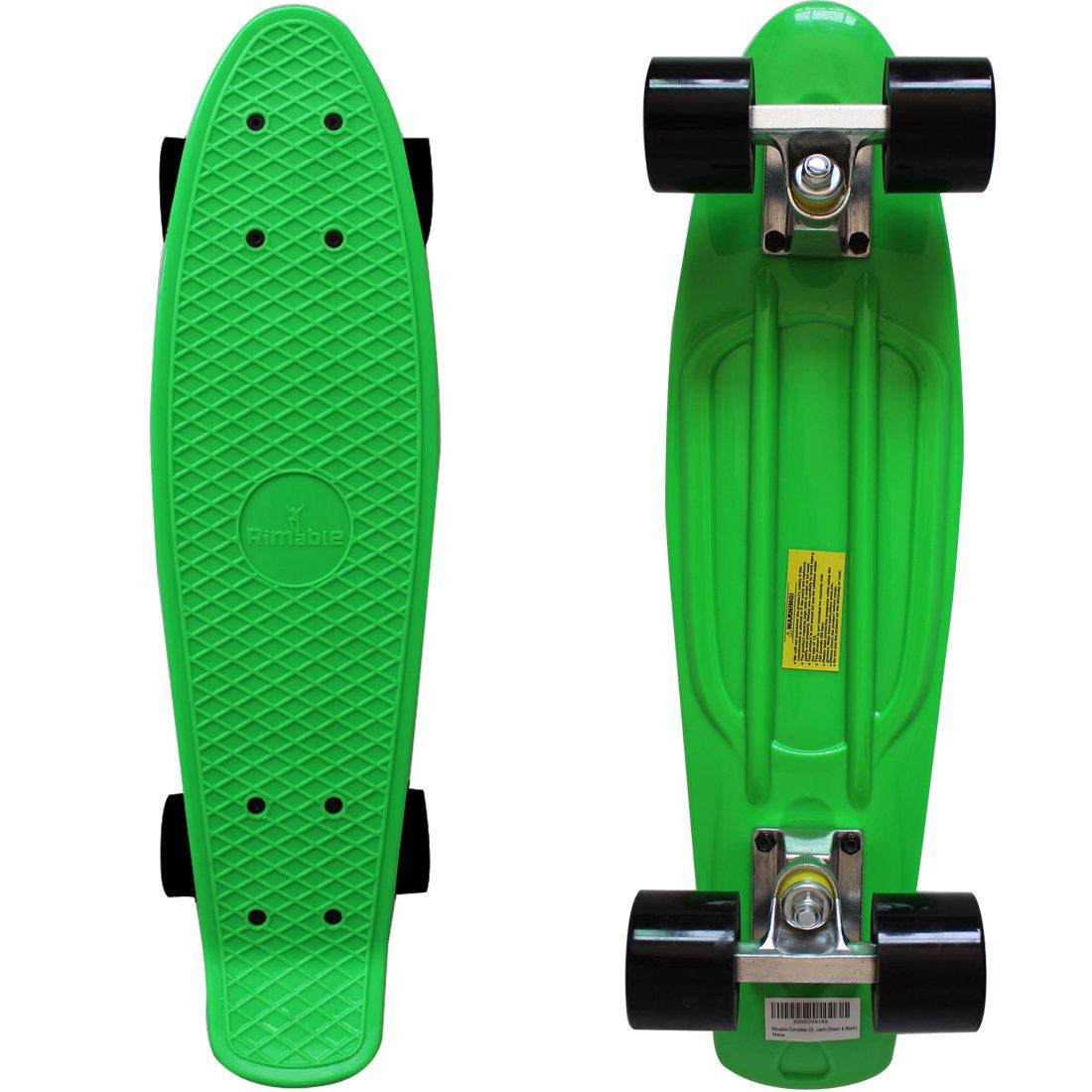 Rimable Complete 22'' Skateboard (Green & Black)