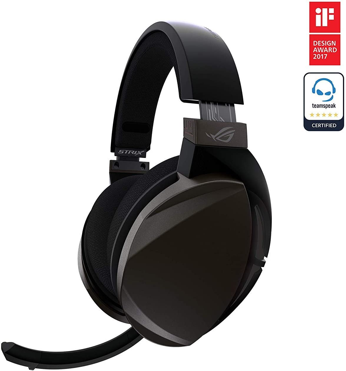 Asus ROG Strix Fusion Wireless - Auriculares gaming con conectividad inalámbrica de baja latencia de 2,4 GHz, 15 horas de autonomía, altavoces Asus Essence, controles táctiles, compatible con PC y PS4