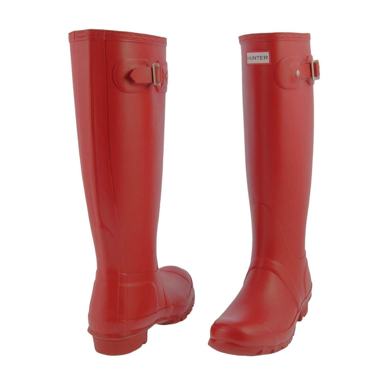 Hunter Women's Original Tall Wellington Boots, Red - 5 UK 38 EU 7 US