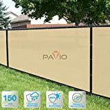PATIO Paradise 4' x 50' Tan Beige Fence Privacy
