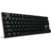 Mechanical Keyboard HAVIT Backlit Wired Gaming Keyboard Extra-Thin & Light, Kailh Latest Low Profile Blue Switches, 87…