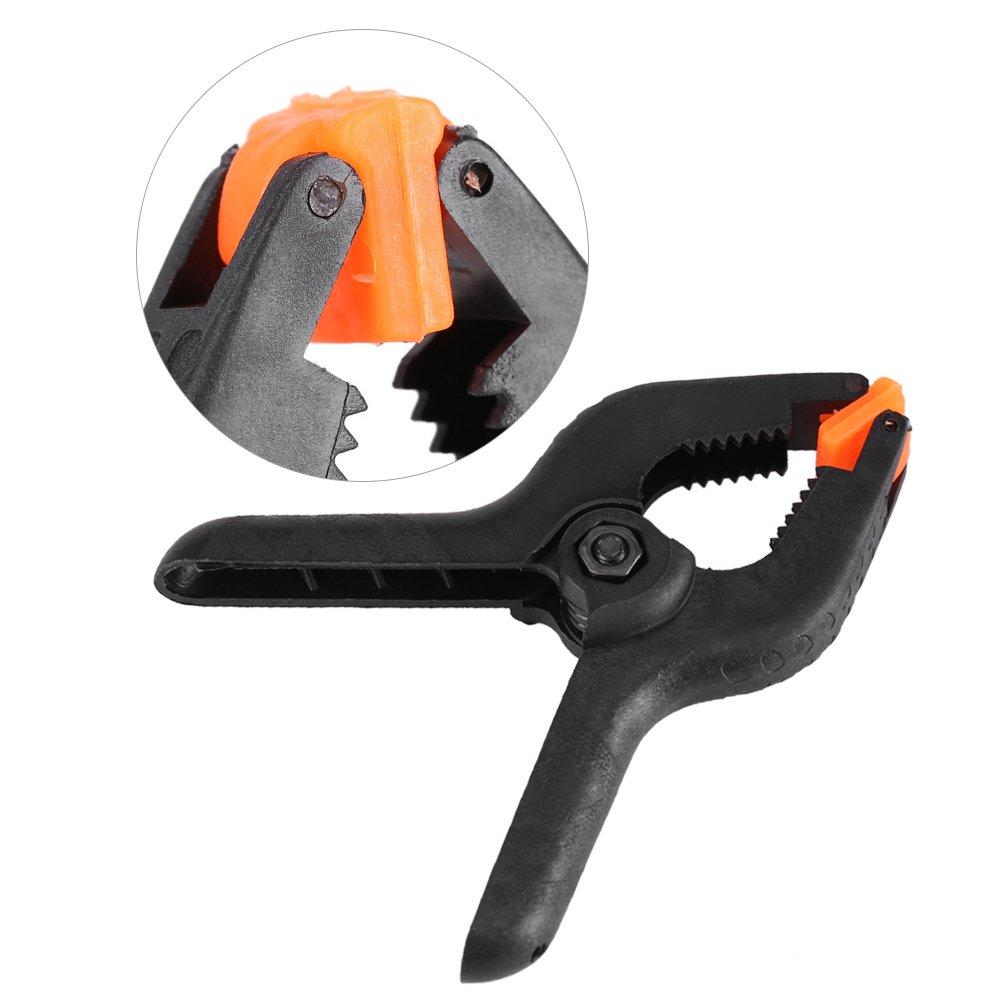 10pcs pinza Clip de sujeci/ón resorte tipo A negro multifuncional pl/ástico tuercas madera DIY herramienta Carpinter/ía 3/in 35/mm