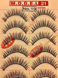 Express Lashes: Model 21 Strip Lashes, Style #19, 1 BOX = 50 PAIRS (5 Trays of 10 Pairs In A Box)