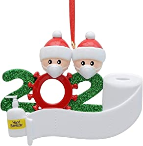 Wigood Christmas Decoration Kit-DIY Personalized 2-7 Family Members Name,2020 Survivor Family Customized Christmas Holiday Decorations, Creative Gifts(2 People)