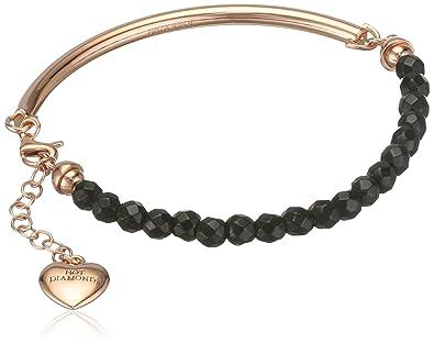 Hot Diamonds Women's 925 Sterling Silver Diamond Turquoise Bracelet of Length 19 cm nQYQN1bzJA