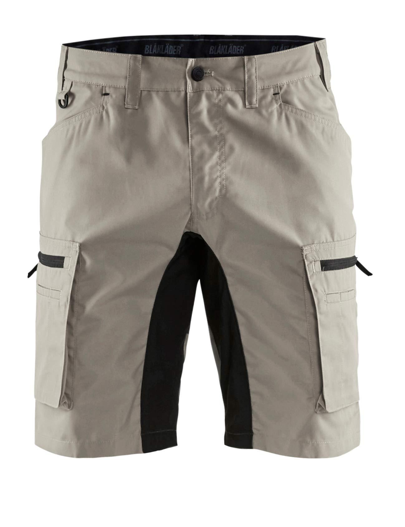 Blaklader 144918452799C50 Shorts''Stretch'' Size C50, Stone Grey/Black