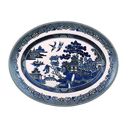 Blue White Platters - Johnson Brothers Willow Blue Platter