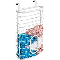 mDesign Metal Over Cabinet Kitchen Storage Organizer Holder or Basket - Hang Over Cabinet Doors in Kitchen/Pantry…