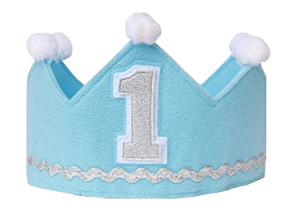 Boy Birthday Crown Made Of Felt Prince Handcrafted In The USA