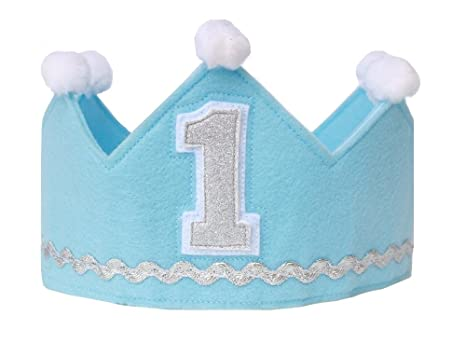 amazon com boy birthday crown made of felt prince crown
