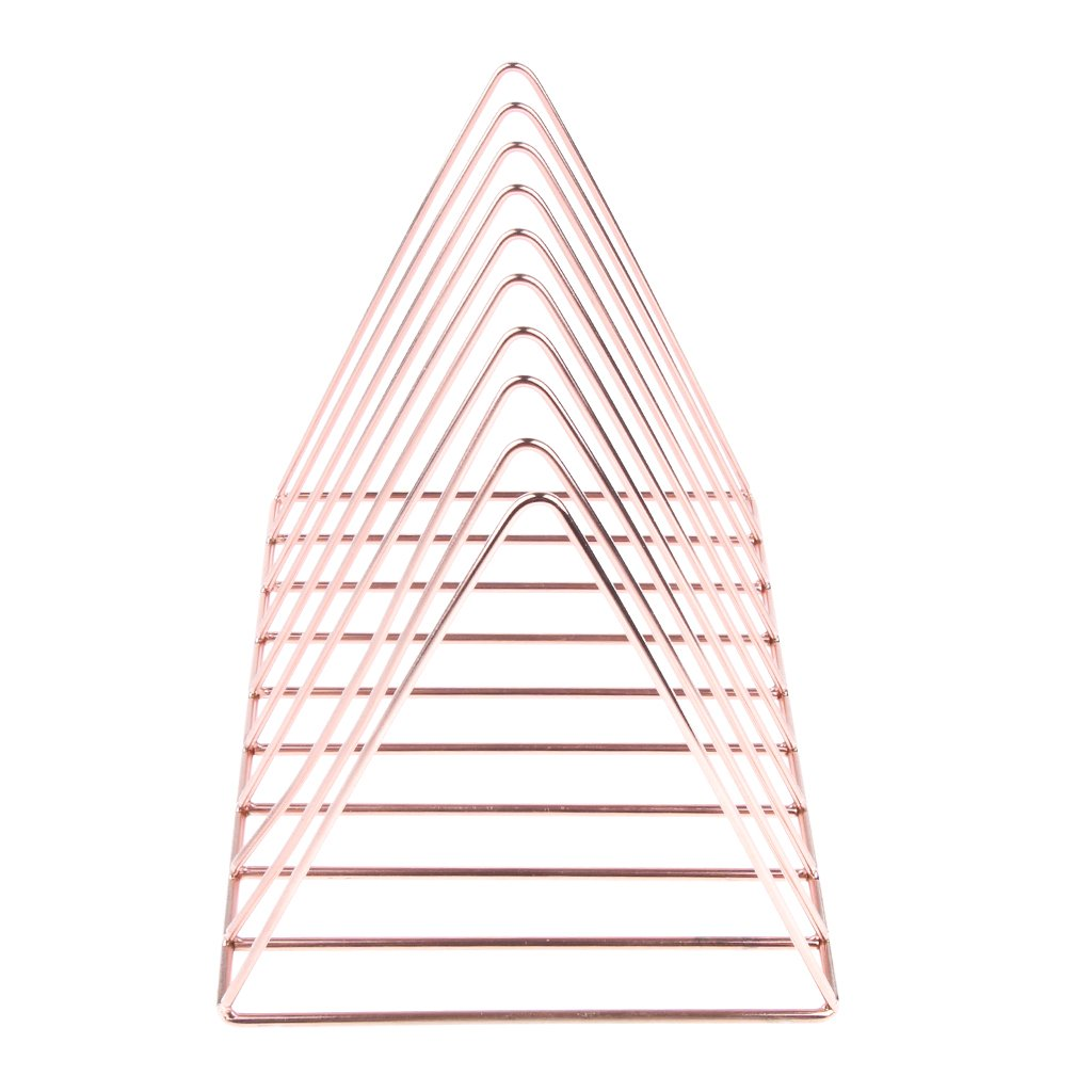 Prettyia Simple Stylish Metal Desktop Bookshelf, Book Stand Rack, Book Holder, Rose Gold by Prettyia (Image #5)