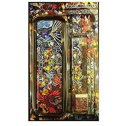 Pokemon Best Wishes Pocket Monsters - Pencil/Pen Case Box set