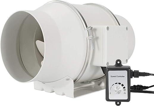 Hon&Guan Extractor de Aire Silencioso 150mm con Controlador de ...