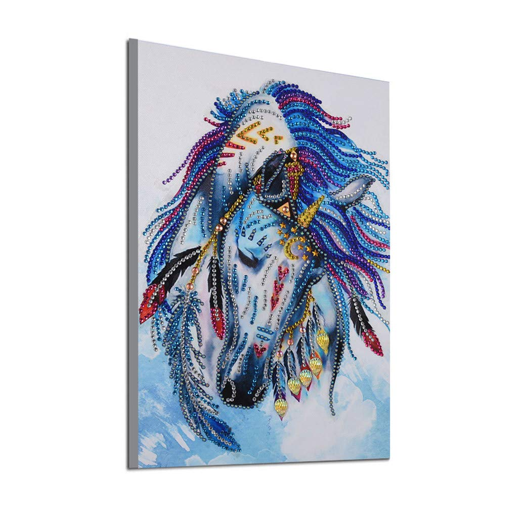 Baulody DIY 5D Diamond Painting by Numbers Kits for Adults 30x40cm Full Diamond Large Lucky Bird Peacock Animal Embroidery Home Wall Decor (A)