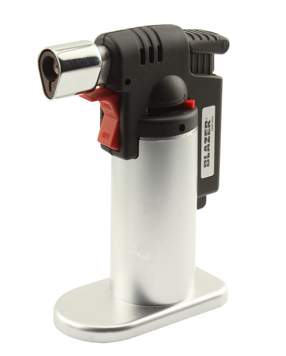 Blazer 189-9276 Fire Fox Butane Refillable Mini Torch, Silver