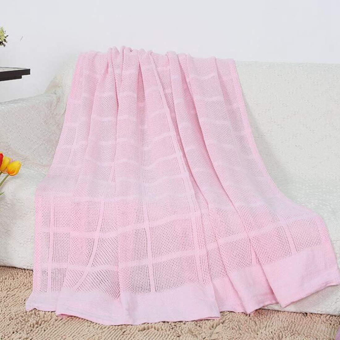 Nekovan 100%コットンバスケット製の織物は、どのベッドにもレイヤーを重ねることができ、何年にもわたって快適さと暖かさを提供します (Color : ピンク, サイズ : 71