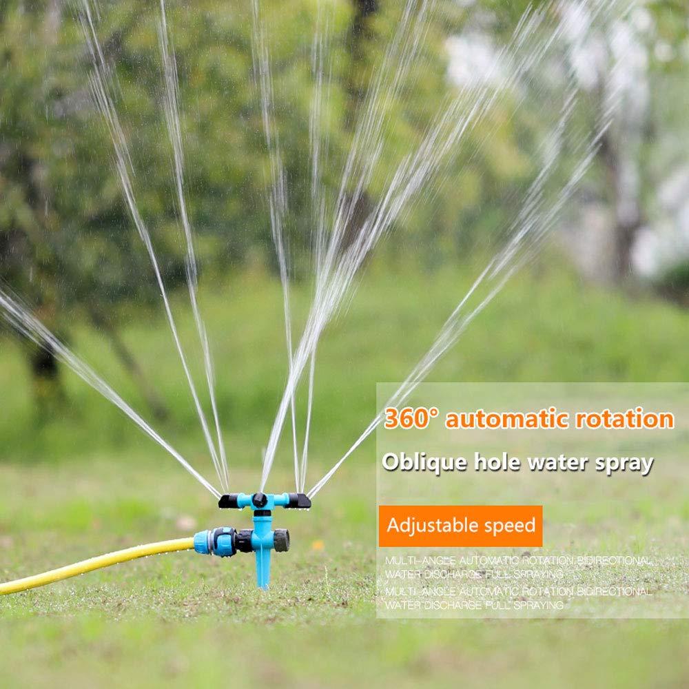 Jardín césped césped impulso rociador de agua de pulverización ajustable de rotación opción Spike