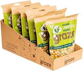 Graze Veggie Vegan Protein Power 128g (Pack of 6)