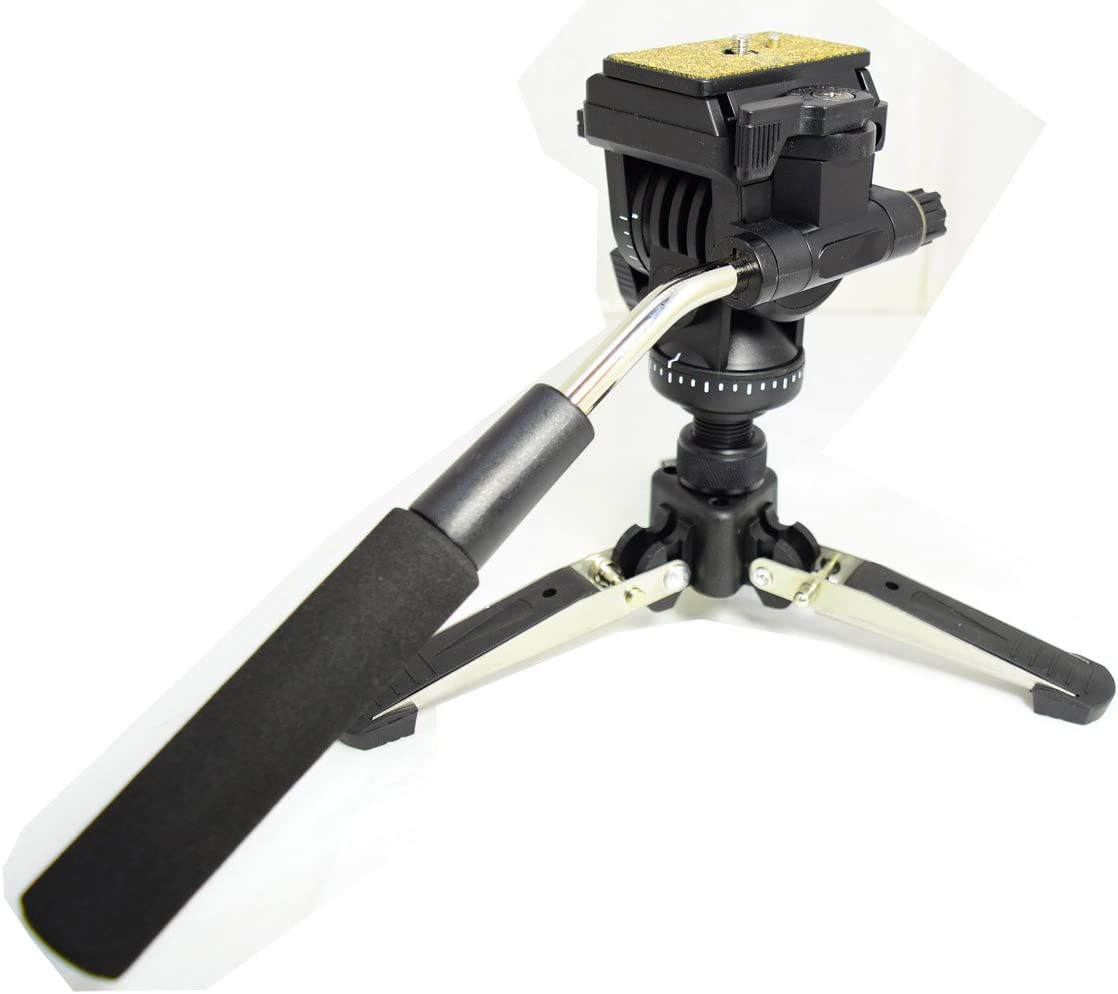 OEM Yunteng288 Monopod Max:58.2 Koolehaoda Professional Camera Aluminium Monopod Fluid Video Head with Folding Three Feet Support Stand