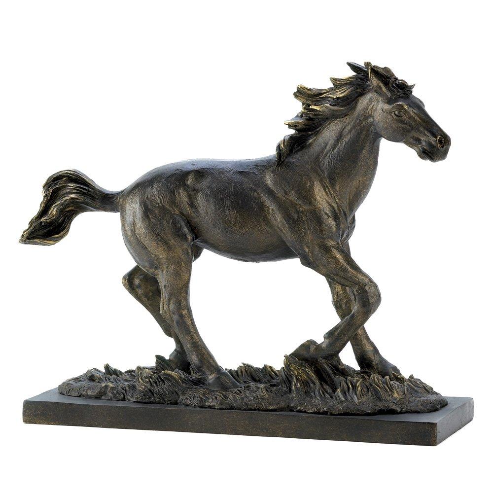 Amazon.com: Gifts & Decor Wild Stallion Galloping Horse Figure ...
