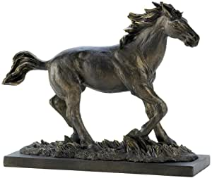 Gifts & Decor Wild Stallion Galloping Horse Figure Statue Home Decor