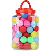 Color Ping Pong Balls Tenis de Mesa Bolas, 60pcs Plástico Color Múltiple Ping Pong Balls Color Pops Playtime Entertainment Gaming Lotería Bolas Decorativas Fun Bolas para Adultos niños