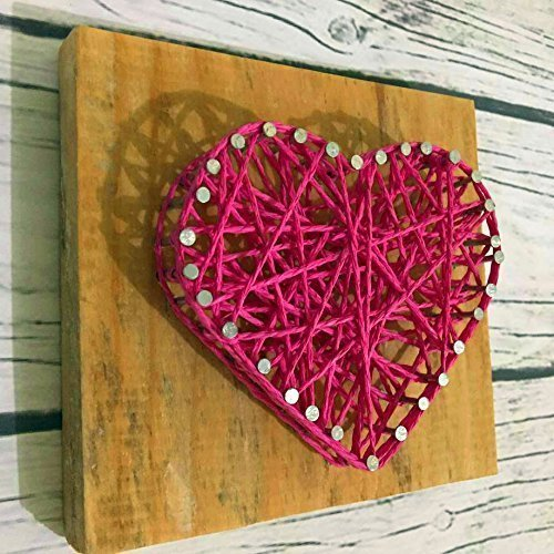 Amazon Com Wooden Rustic Red String Art Heart Love Heart Sign A
