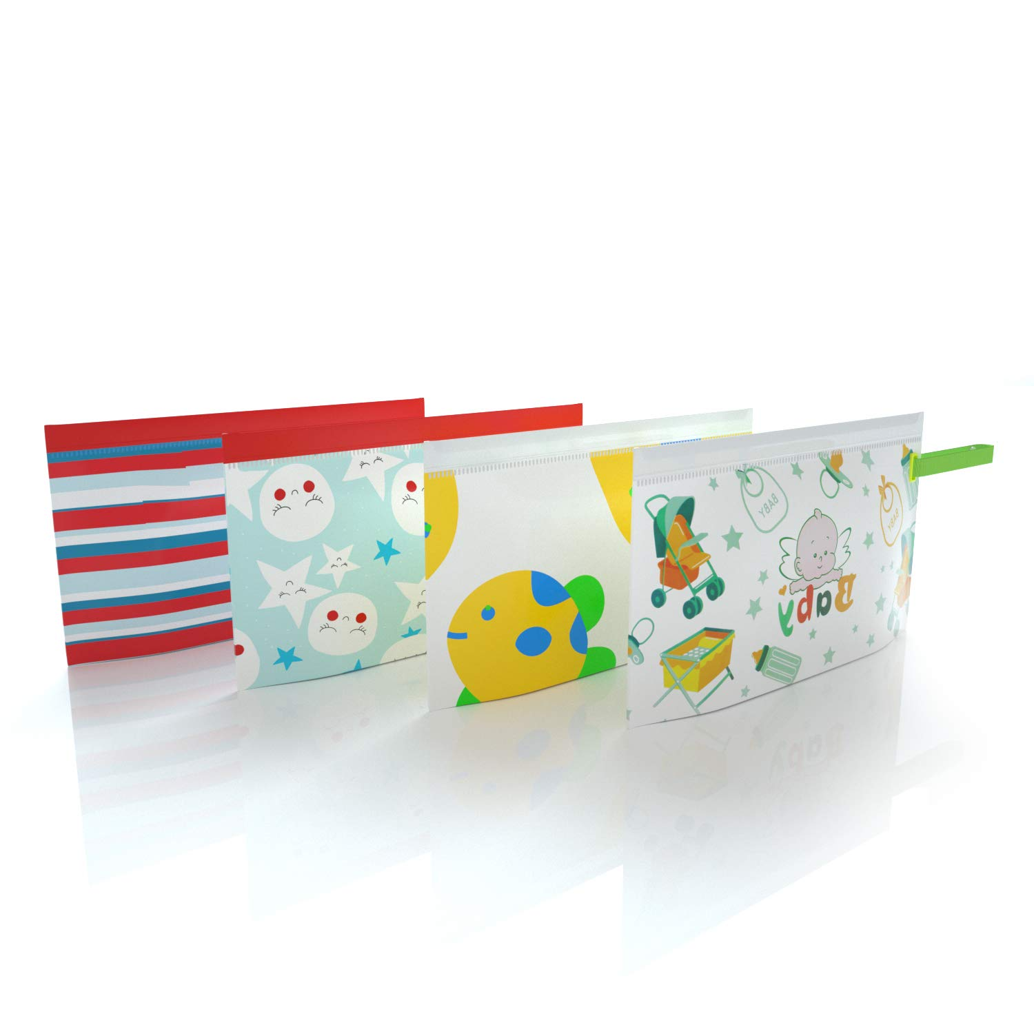 Great for Travel Eco Friendly Wipe Pouches Jiulyning 4PCS Reusable Wet Wipe Pouch Dispenser for Baby Or Personal Wipes