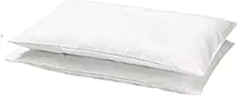 "Crib Pillowcase baby children 14/"" X 22/"" White soft Cotton 2 pack IKEA LEN NEW"