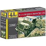Heller - 79997 - Construction Et Maquettes - Us 1/4 Ton Truck & Trailer - Echelle 1/72ème