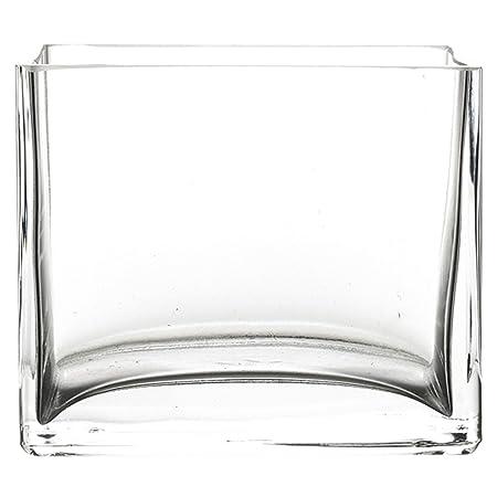 Pasabache Glass Flora Plain Vase, 10x100mm (Clear, 80134)