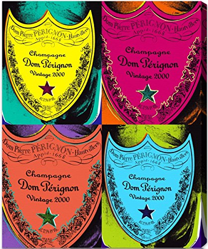 - The Oliver Gal Artist Co. Drinks and Spirits Wall Art Canvas Prints 'Warholesque Dom P' Home Décor 36