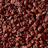 Small Red Lava Rock | Fireproof Heatproof Volcanic Lava Rock, Perfect Fire Pits, Fireplaces, BBQs More. Indoor Outdoor use – Natural Stones | 10 pounds (3/8″)