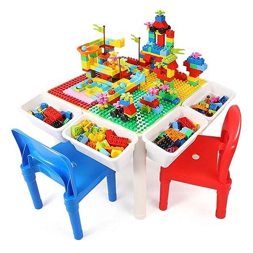 Para niños mesa y sillas, conjuntos de gran edificio de partículas ...