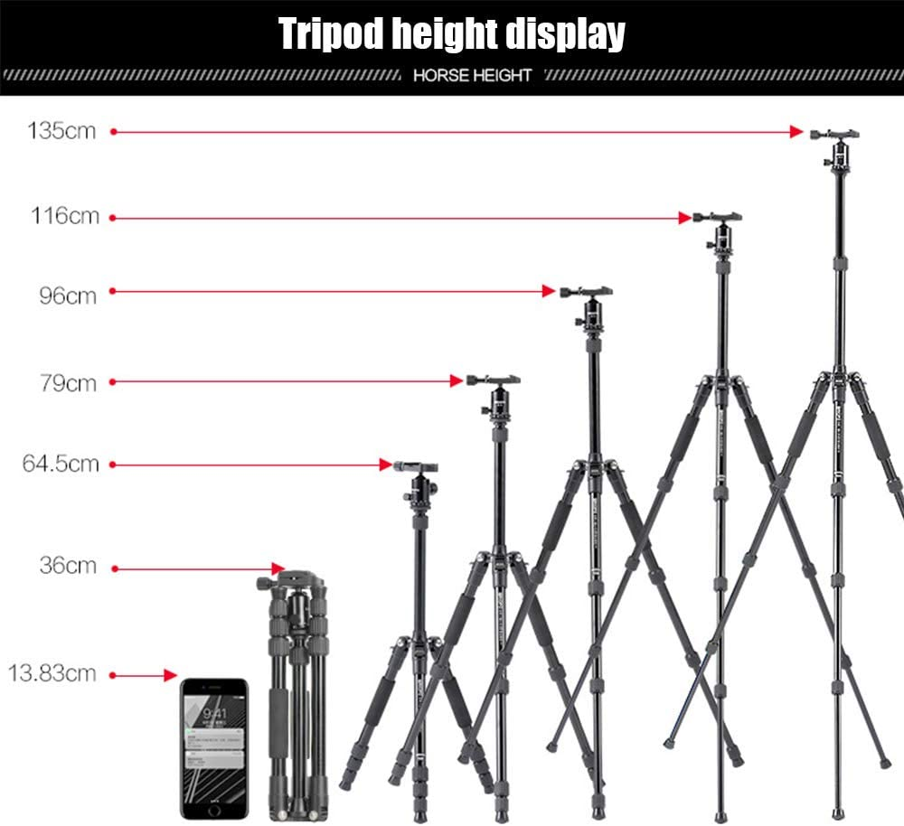 Xianxian88 Convenient Travel Tripod Aluminum Alloy Center Shaft Inversion and Ball Head Tripod monopod 360/° Panoramic Shot for Travel on SLR Camera Tripod