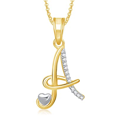 Buy meenaz jewellery gold plated a letter pendant for women online meenaz jewellery gold plated a letter pendant for women aloadofball Image collections